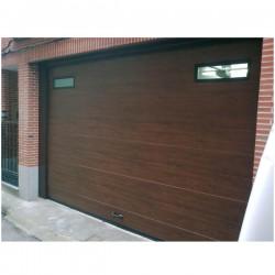 PSL MD W96 Puerta seccional lisa madera W96 (m2)