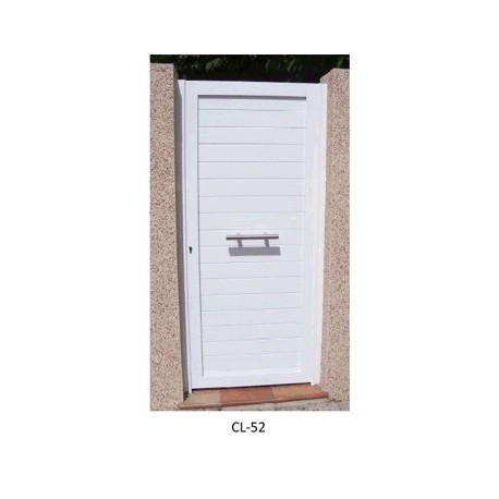 Puerta peatonal 900x2100 mm. Lama 100