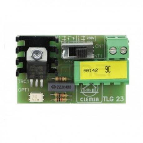 TLG 23 - Tarjeta para luz de garaje por impulso o temporizada para CLAS 16 y 16.1