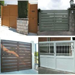 Puerta abatible 3000x2200 mm. Lama 200 1H