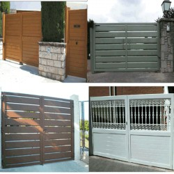 Puerta abatible 4000x2200 mm. Lama 200 1H
