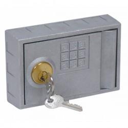 Caja fuerte para pared con pulsador. 80 x 120 x 30 mm