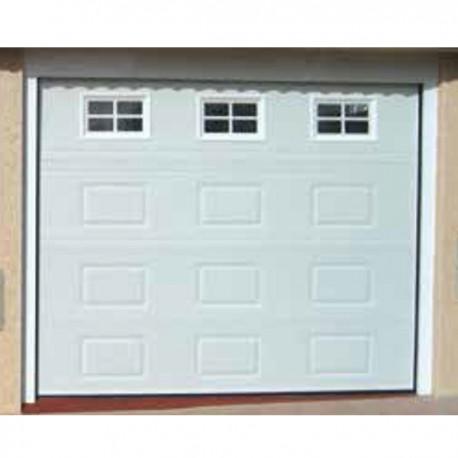 PSC BL - Puerta seccional cuarterón blanca (m2)